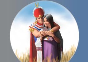 Inca warrior and princess by dofreal