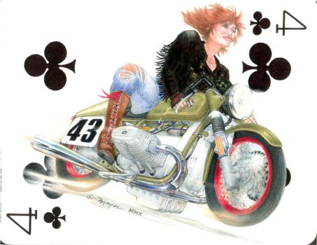 Redhead Cafe Rider by rrrtist55