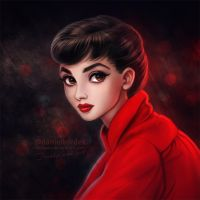 Audrey in Red by daekazu