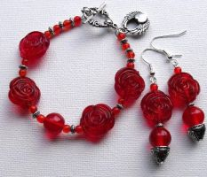 Heart of Rose Red Set by IdolRebel