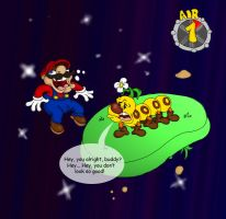 Super Mario Galaxy by dustindemon