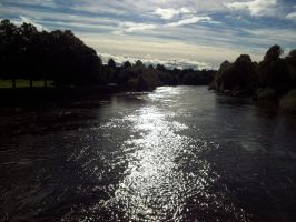 River Dee glistening in the afternoon sun by rbompro1