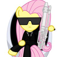 Fluttershy in Black (FIM) by Varcon