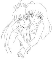 Kagome And Kurama-Blank by usagisailormoon20