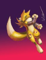 Renamon wacom by blademanunitpi