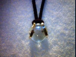 Clear glass charm by M-L-K-T-69