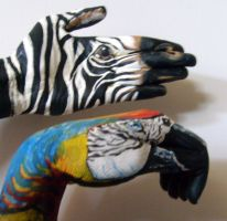Parroting AND Zebraing by athletic-artist