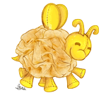 Loofah Bee by bytail