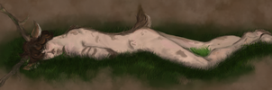 Sleeping on the forest floor. by The-Investigators
