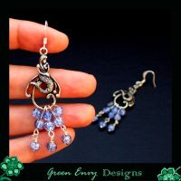 A sirens song earrings by green-envy-designs