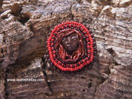 Tribal Goddess Brooch by Lost-in-the-day