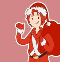Hetalia | Breaking news, Scotland is Santa now :D by Lazorite