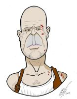 Bruce Willis Toon by Kryptoniano