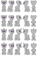 Male pony Flash puppets by AleximusPrime