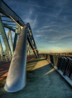 Nijmegen bridge in HDR view by Tenbult