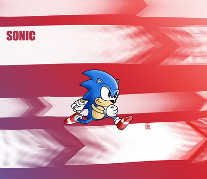 Sonic the hedgehog by greendragongryphon