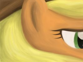 Applejack Fingerpaint Study by WerdKcub
