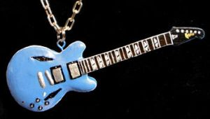 Dave Grohl Blue Gibson Pendant by frenziedsilence