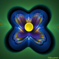 Blue Flower 3D by Colliemom