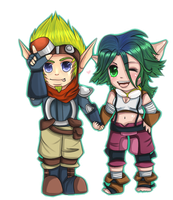 Jak and Keira by Lynnrenk