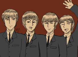 The Beatles by Coffee-Coke