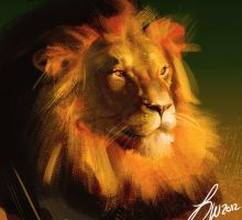 Lion Study by LindseyWArt