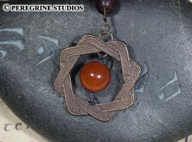 Amulet of Arkay - Stainless Steel Pendant by PeregrineStudios