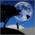 Tale of the kite in the night by grenouille-enchantee