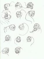 symbiote expression sheet by arcanineryu