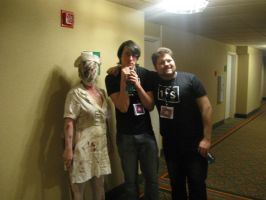 Silent hill 2 nurse meets Taka and Lanipator by Wingeddeath243