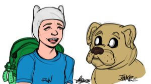 Finn and Jake - Jan 2015 by bratchny