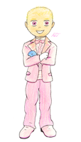 Pink Tux to the Prom by stickfigureparadise