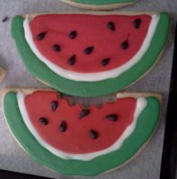 Watermelon cookies by Sadeira
