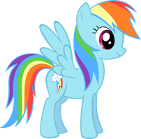Rainbow Dash - Vector by SkunkDJ
