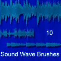 Sound Wave Brushes by 1337-1stock