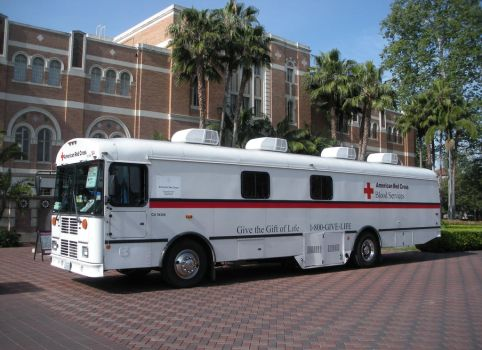 Blood Services Bus at USC Doheny Library by rlkitterman