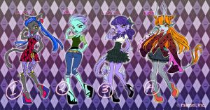 AUCTION - Monster High OC Set 1 [CLOSED] by periwinkleimp