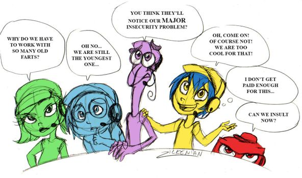 TF2 and Inside Out: Scout's Emotions by Zilkenian