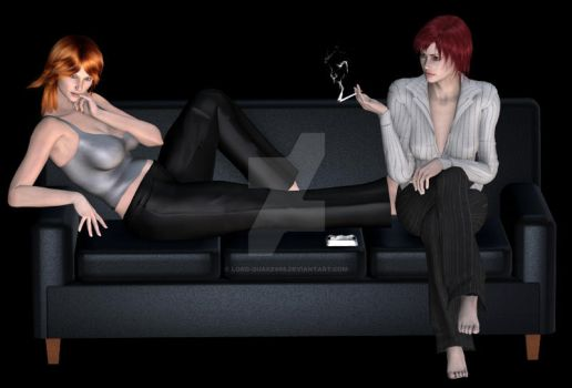 Cassandra and Meghan by Lord-Quake666