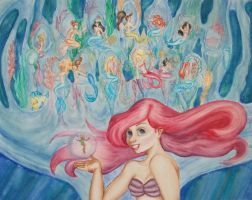 68 2012 Tini - Watercolour: Mermaid Lagoon by JusTiniStilborn