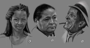 Drawing practise: Faces 2 by IgnazioDelMar