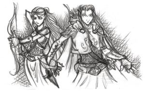 Warrior Elves by Nat-Evans