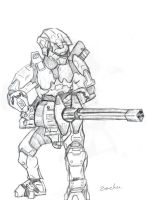 Halo 3 turret by echoz12 by Spartan-II-Project