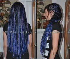 80 thin DE dreads by Masquerade-Infernale