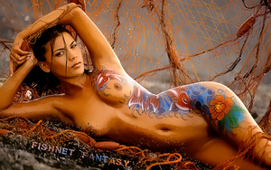 BODYPAINT ART: FISHNET FANTASY by CSuk-1T