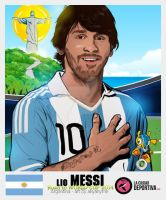 Stickers Brazil 2014: Lionel Messi - Argentina by akyanyme