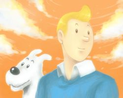 Tintin and Snowy by smoothies79