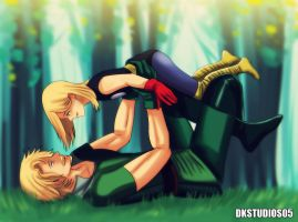 Thor and  Fandral commission by DKSTUDIOS05