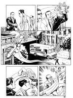 Me inking Mike Allred pg 3 by Devilpig