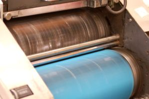 Printing Press Rollers by reznor70-stock
